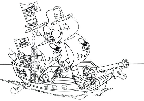 600x422 Ship Alphabet Coloring Page