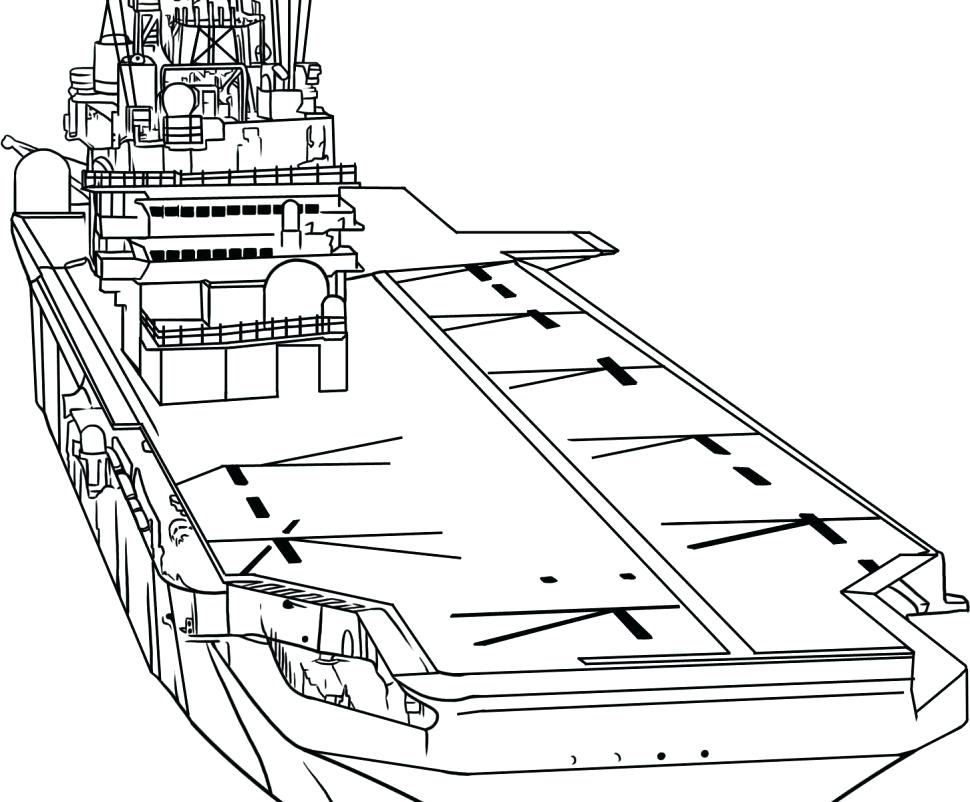 970x802 Aircraft Carrier Coloring Page Aircraft Carrier Coloring Pages