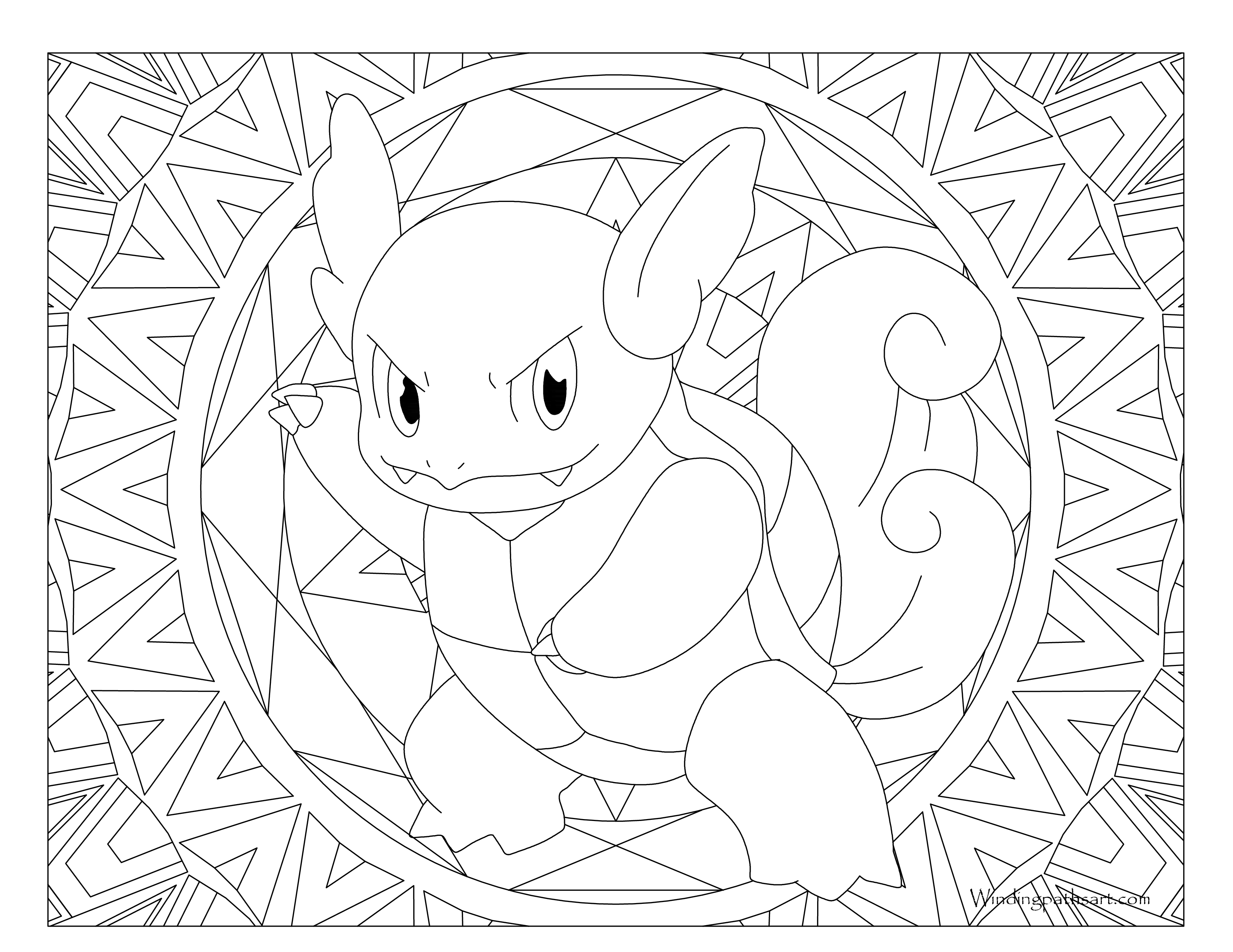 Wartortle Coloring Pages