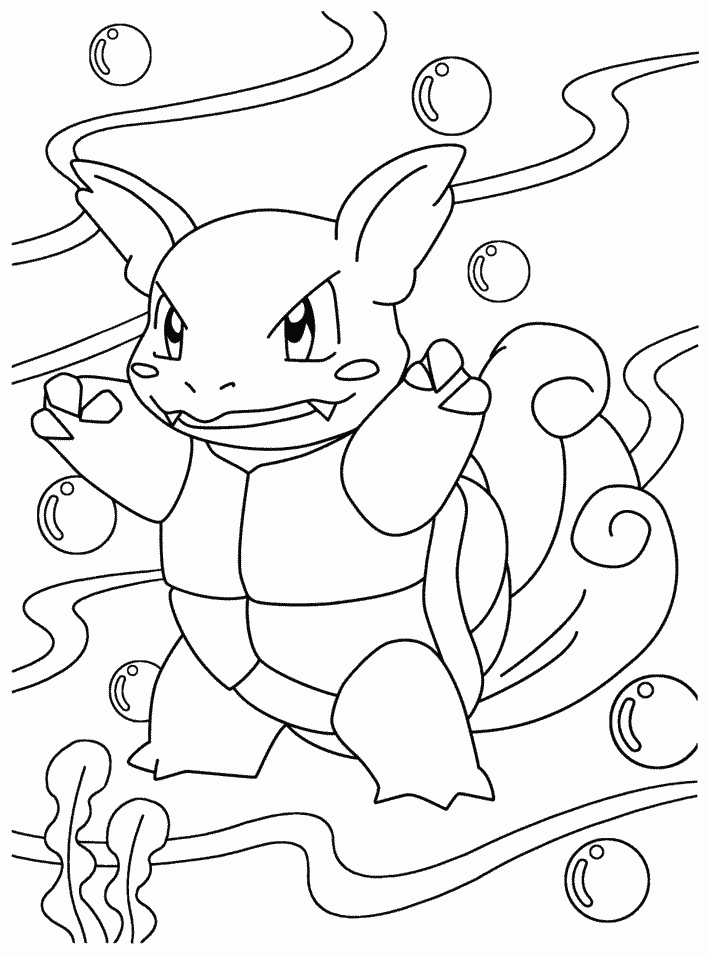 710x957 Pokemon Wartortle Coloring Page Coloring Page Central