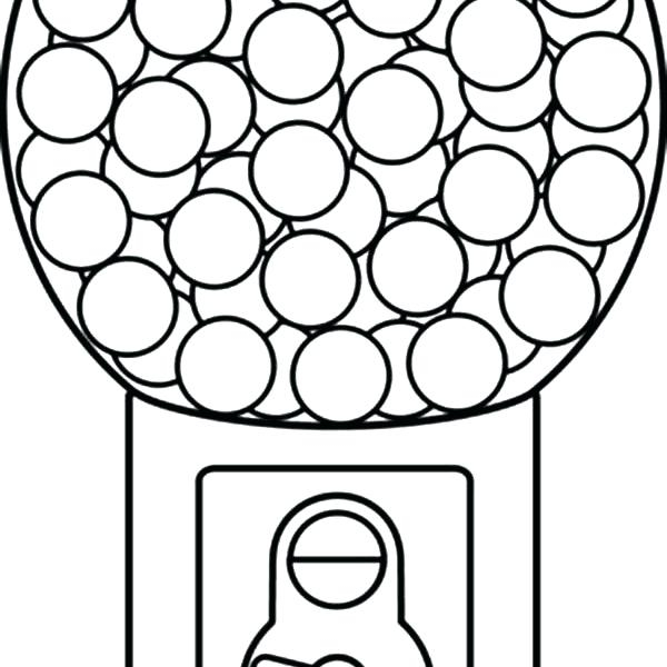 600x600 Gumball Machine Coloring Page Trend Washing Machine Coloring Page
