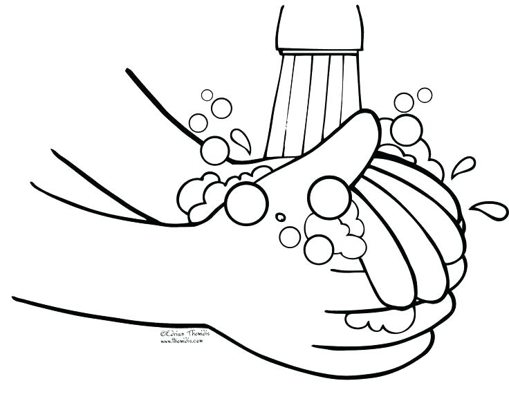 736x606 Hand Washing Coloring Pages Hand Washing Coloring Pages