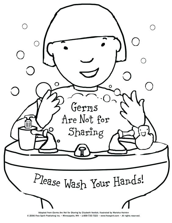 564x729 Hand Washing Coloring Sheet Washing Machine Coloring Page