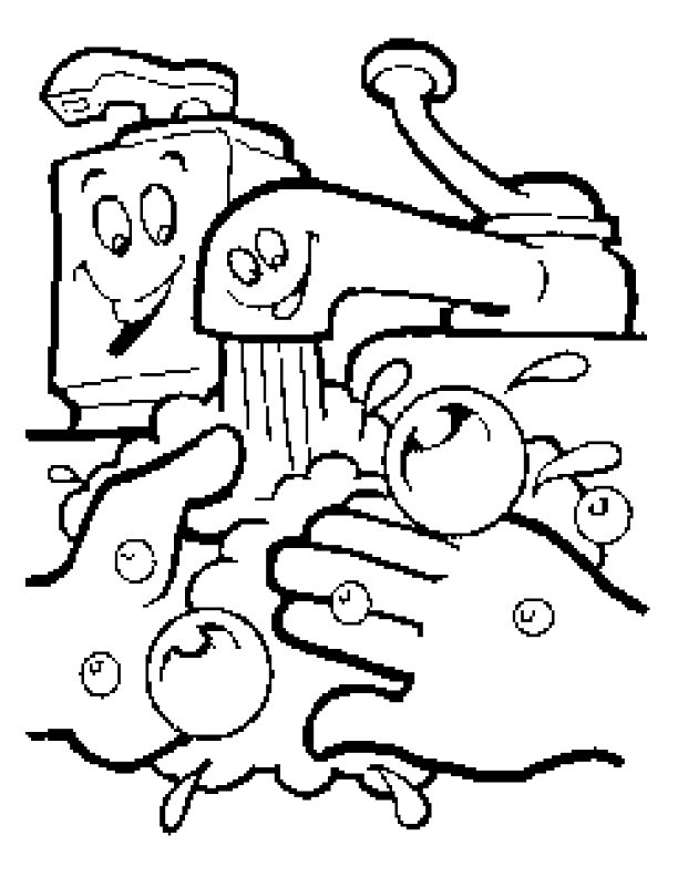 612x792 Handwashing Coloring Pages