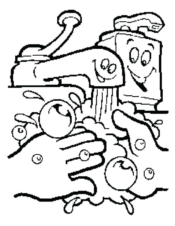 600x776 Handwashing Coloring Pages Hand Washing Coloring Pages