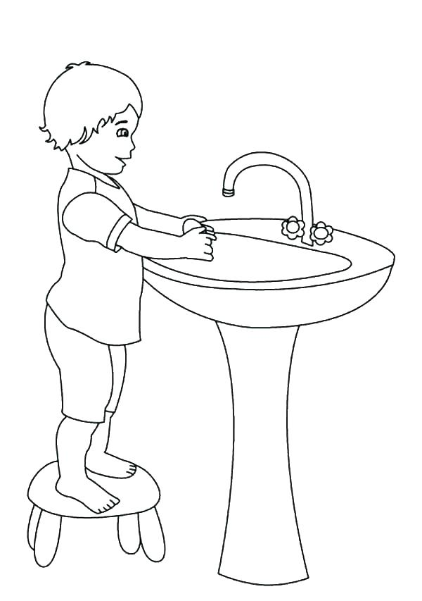 600x853 Handwashing Coloring Pages Top Rated Hand Washing Coloring Pages