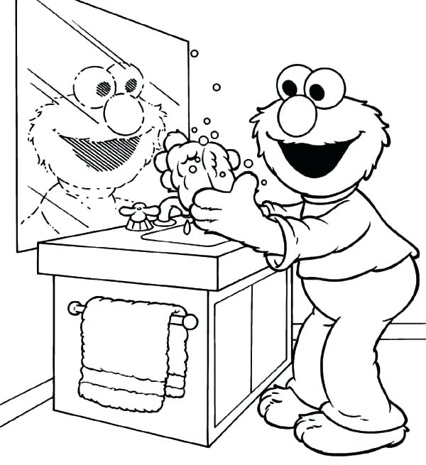 600x655 Handwashing Coloring Pages Washing Machine Coloring Page Hand