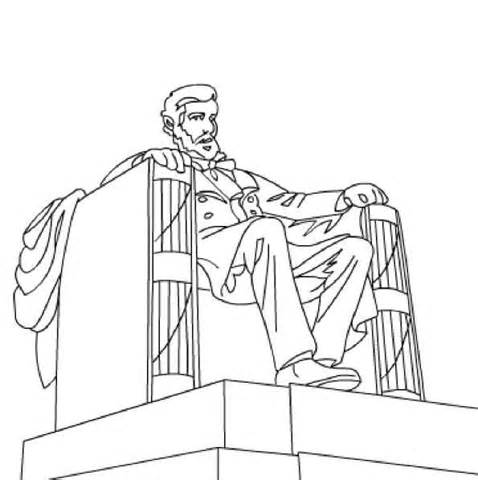 478x480 Lincoln Memorial Coloring Page