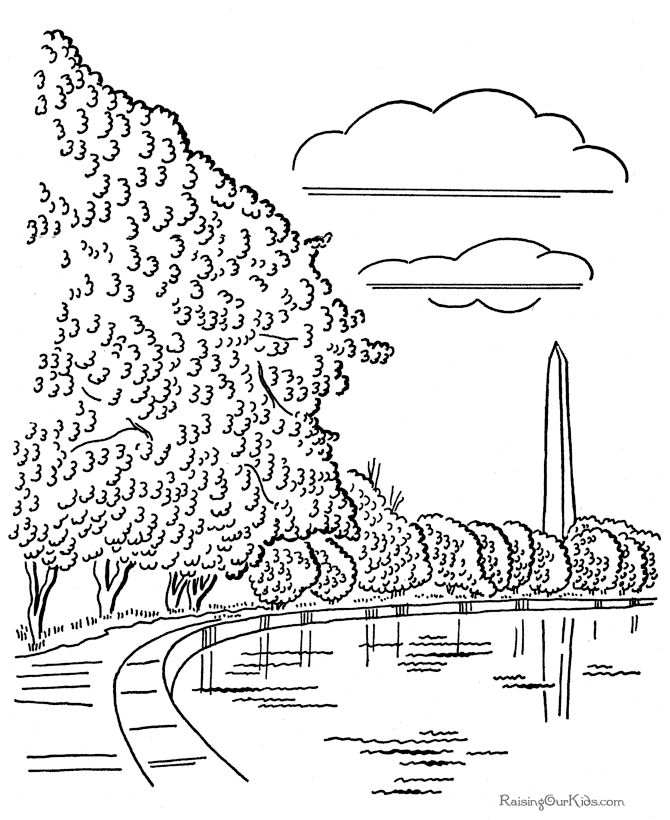Washington Nationals Coloring Pages