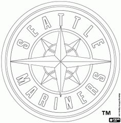 236x241 Seattle Mariners Logo Coloring Page Super Coloring Seattle