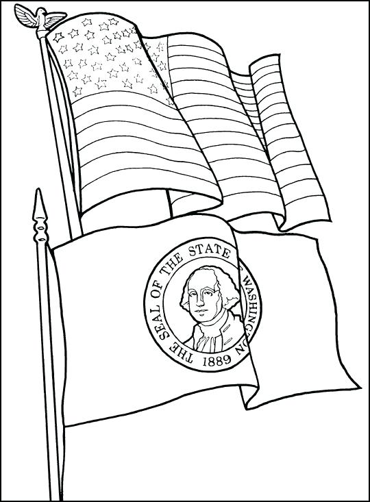 540x733 South Dakota State Flag Coloring Page Free Printable Pages