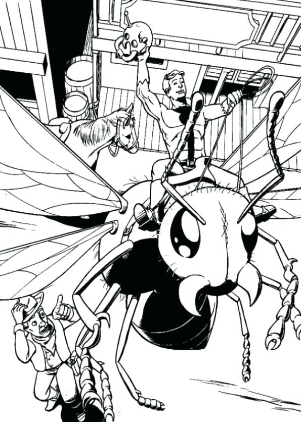 595x835 Wasp Eastern Yellow Jacket Insects Coloring Pages For Kids