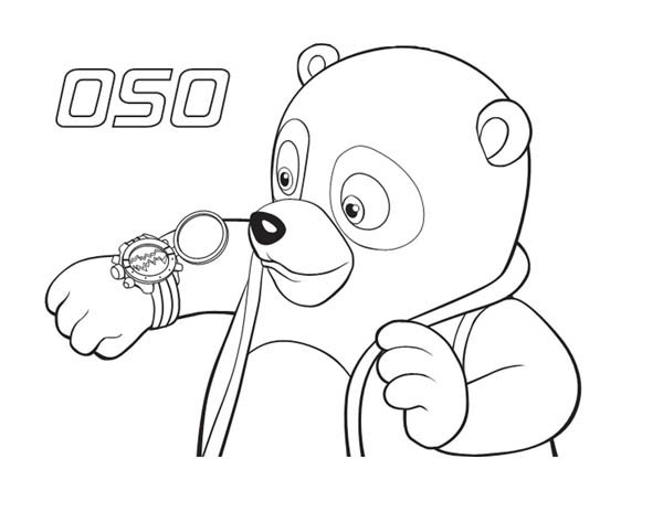 600x464 Special Agent Oso New Watch Coloring Page