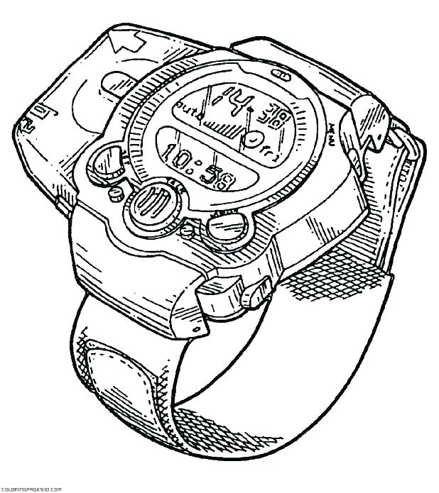 618x695 Watch Coloring Page Best Printable Coloring Pages Of Watch Page