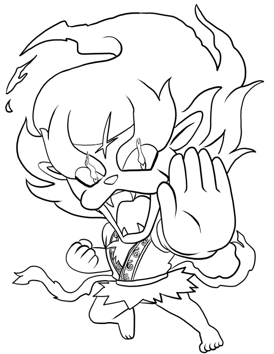549x709 Blazion From Yo Kai Watch Coloring Pages