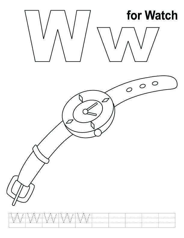 612x792 Watch Coloring Page Coloring Pages Yo Watch Coloring Pages