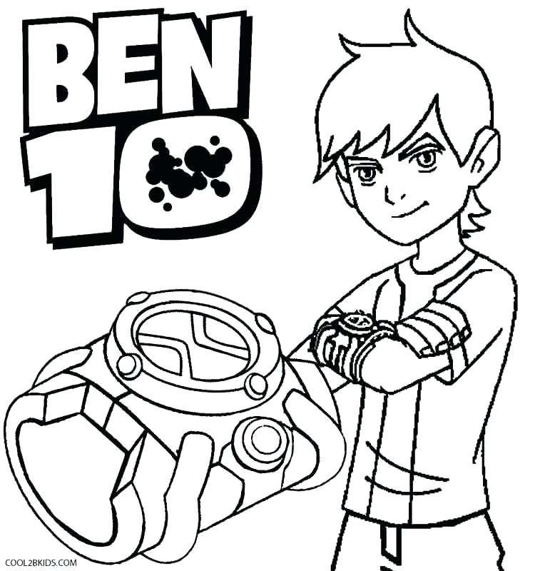 764x800 Watch Coloring Page Ten Coloring Page Watch Coloring Pages Alien