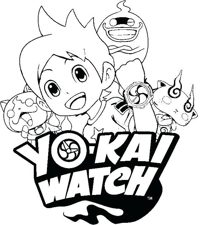 639x719 Watch Coloring Page Yo Watch Yo Kai Watch Free Coloring Pages
