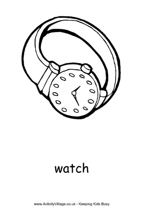 460x668 Watch Colouring Page