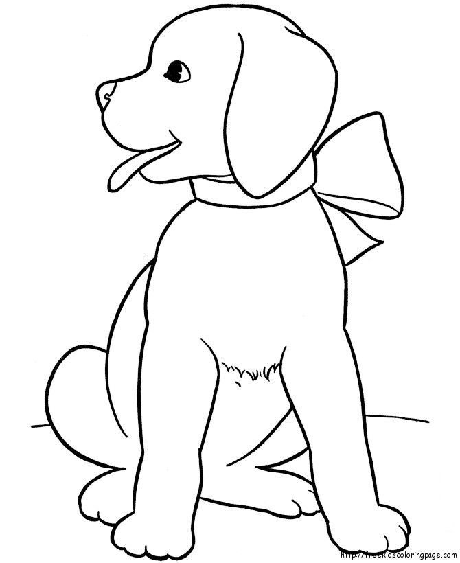 670x820 Cute Dogs Coloring Pages To Print For Kids