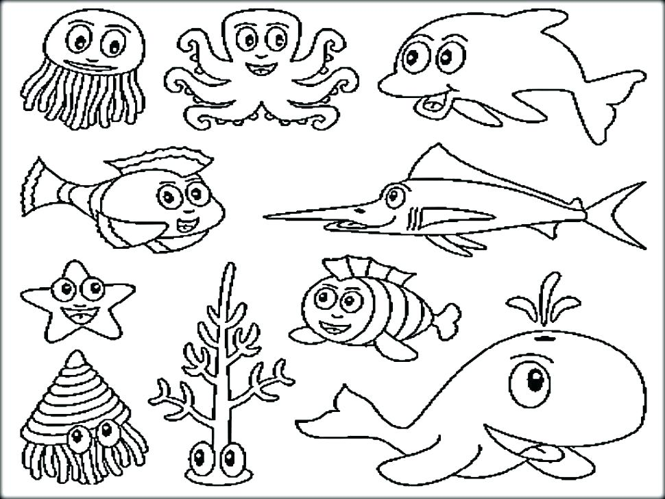 970x728 Underwater Coloring Pages Underwater Coloring Pages Underwater