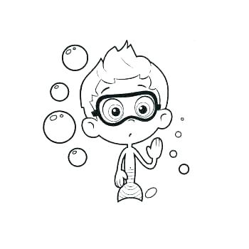 350x350 Water Bottle Coloring Page Bubble Guppies Coloring Page Bubble