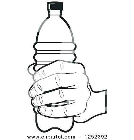 450x470 Water Bottle Coloring Page Free Baby Black And White Image Water