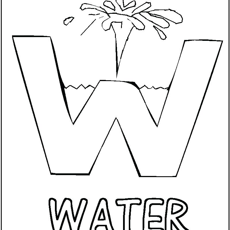 800x800 Water Coloring Page Coloring Pages For Kids Of Water Water Bottle
