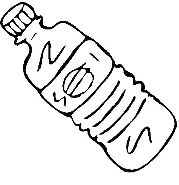 596x616 Water Bottle Coloring Page