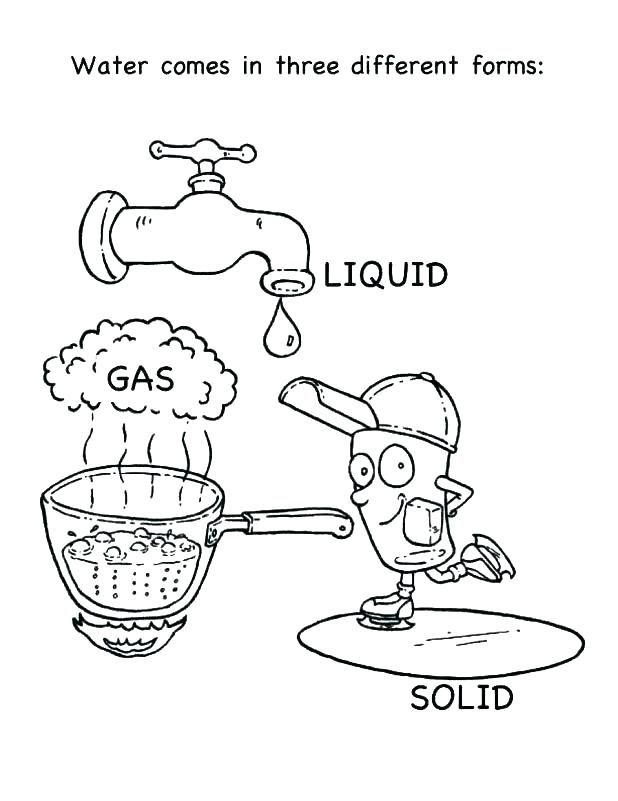 618x801 Walks On Water Coloring Pages Water Bottle Coloring Page