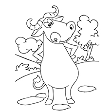230x230 Top Free Printable Buffalo Coloring Pages Online