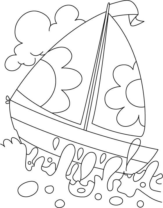 561x714 A Boat In Deep Water Coloring Page Edarts And Crafts