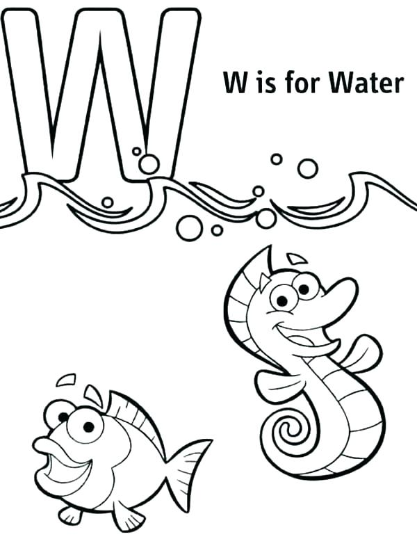 600x775 W Coloring Page Coloring Pages With Letters Letter W Coloring