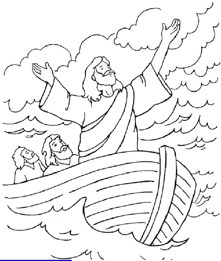 736x869 Jesus Walking On Water Coloring Page Coloring Coloring Pages