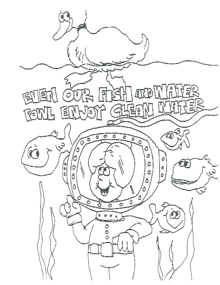 700x906 Coloring Pages Fish Water Cycle Coloring Page Also Save Water