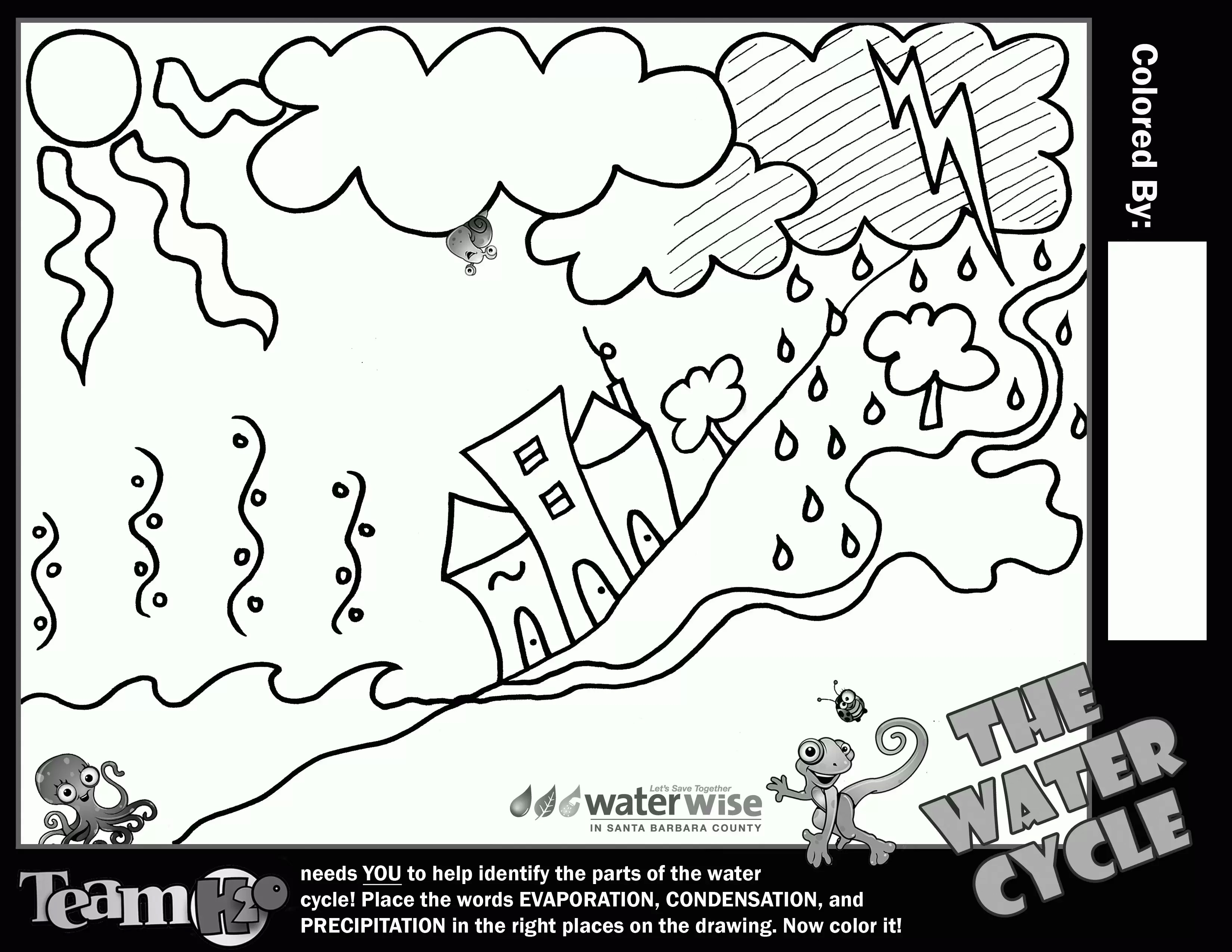 3300x2550 Water Cycle Coloring Pages Robertjhastings Net Beautiful Color