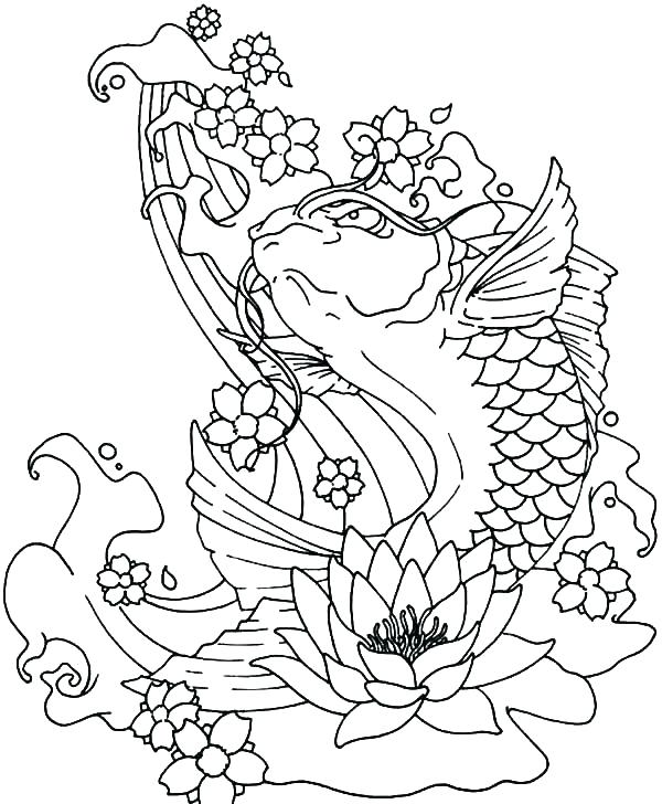 600x728 Jumping Fish Coloring Pages Water Cycle Coloring Page Water