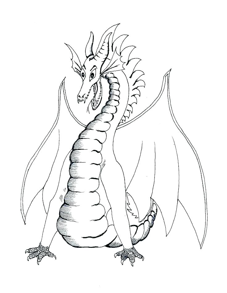 736x952 Dragon Coloring Pages Realistic Realistic Dragon Coloring Pages