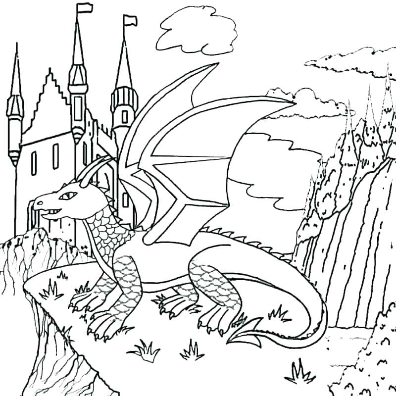 800x800 Dragon Coloring Pages Realistic Realistic Water Dragon Coloring