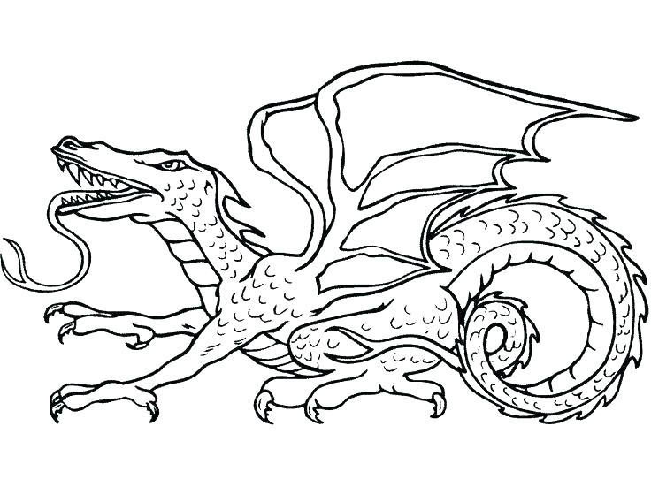 736x551 Ideas Printable Dragon Coloring Pages And Water Dragon Coloring