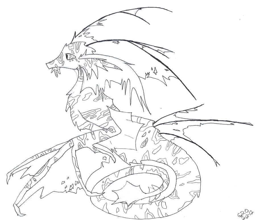 900x772 Realistic Dragon Coloring Pages Realistic Dragon Coloring Pages