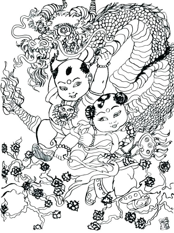 571x765 Chinese Dragon Coloring Convoboxco Chinese Dragon Coloring