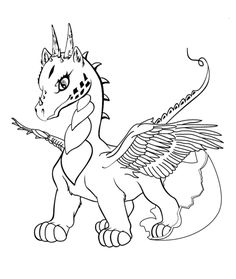 236x279 Water Dragon Coloring Page Templates, Patterns Printables
