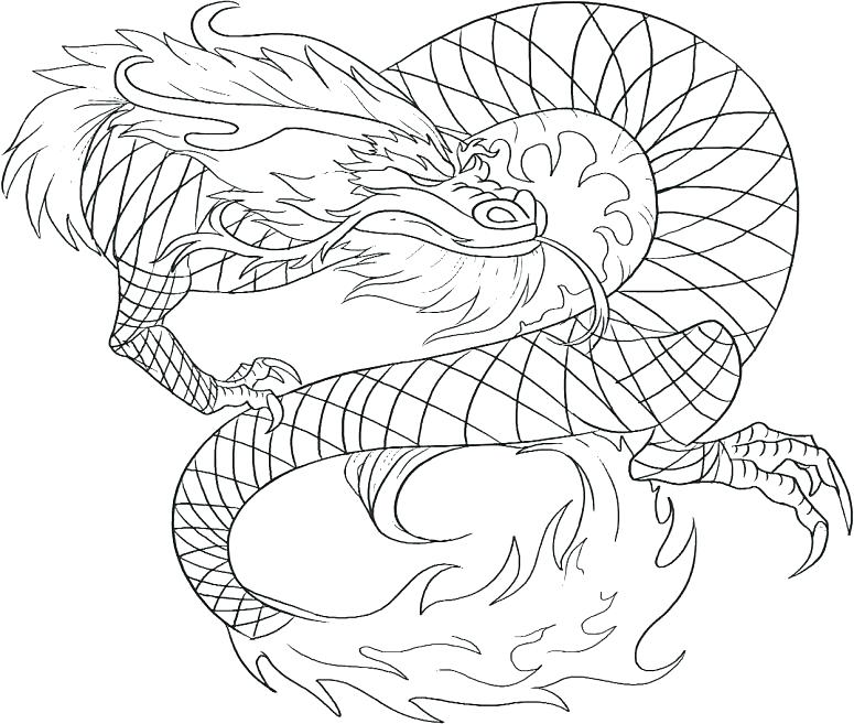 775x657 Dragon Color Pages Good Dragon Coloring Pages For Adults Print