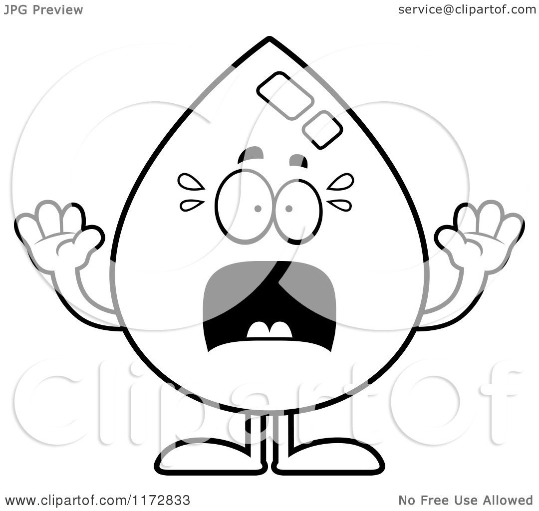 1080x1024 Cartoon Clipart Of A Screaming Water Drop Mascot