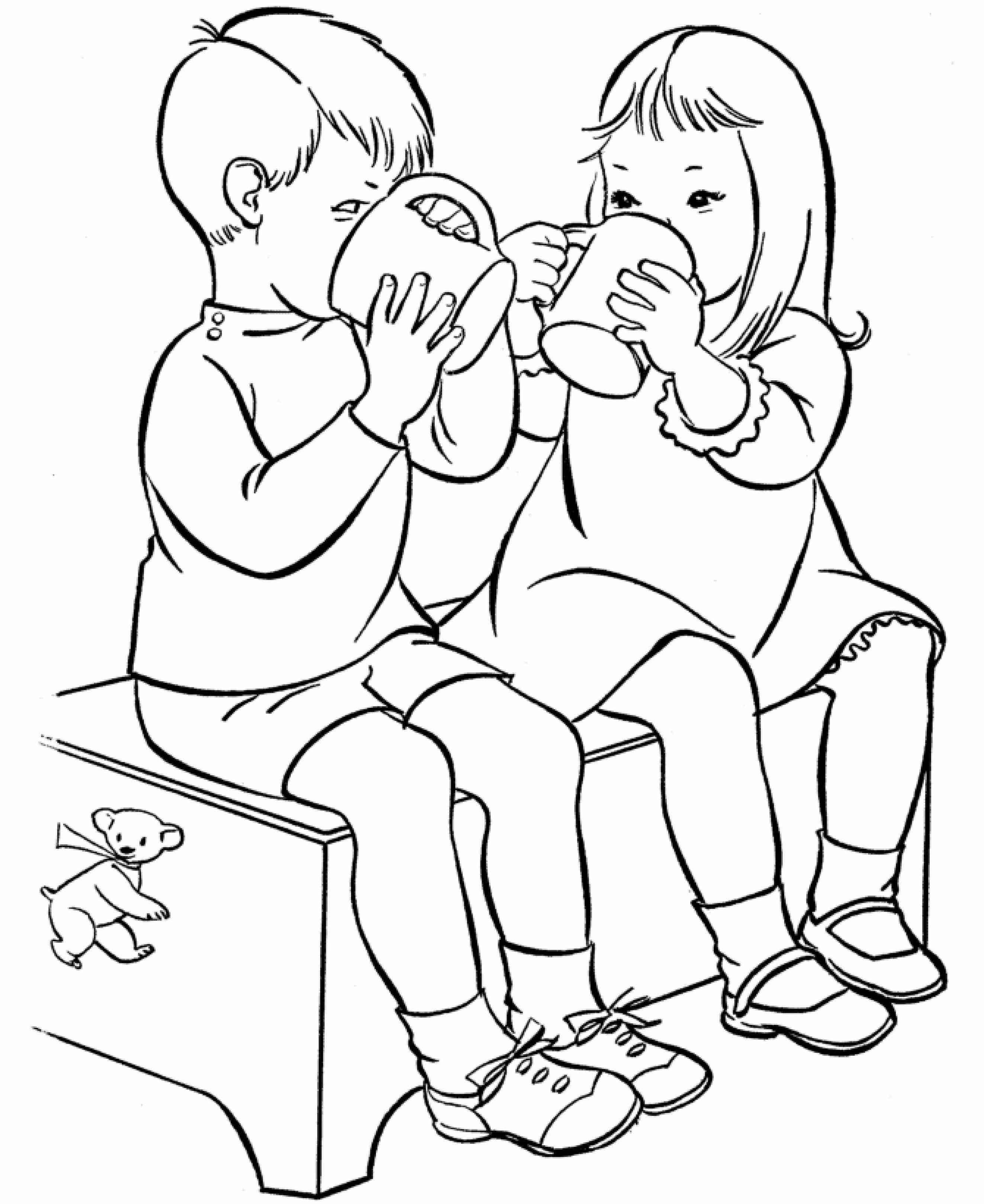 2646x3239 Drinking Water Coloring Pages Web Coloring Pages