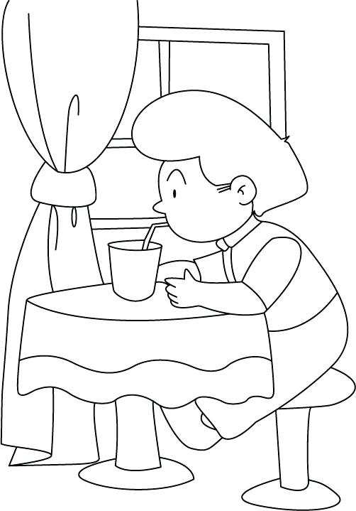 502x719 Drinks Coloring Pages Drinking Water With A Straw Coloring Pages