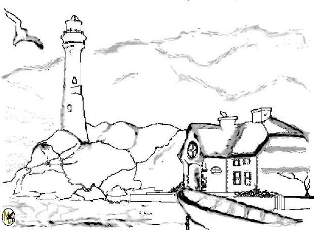 620x455 Lighthouse Coloring Pages