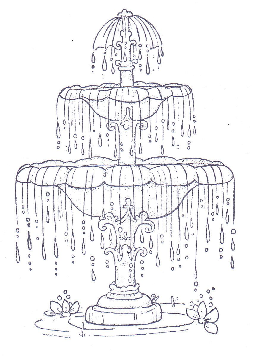 851x1199 One Of The Prettiest Fountain Patterns I've Come Across Lovely