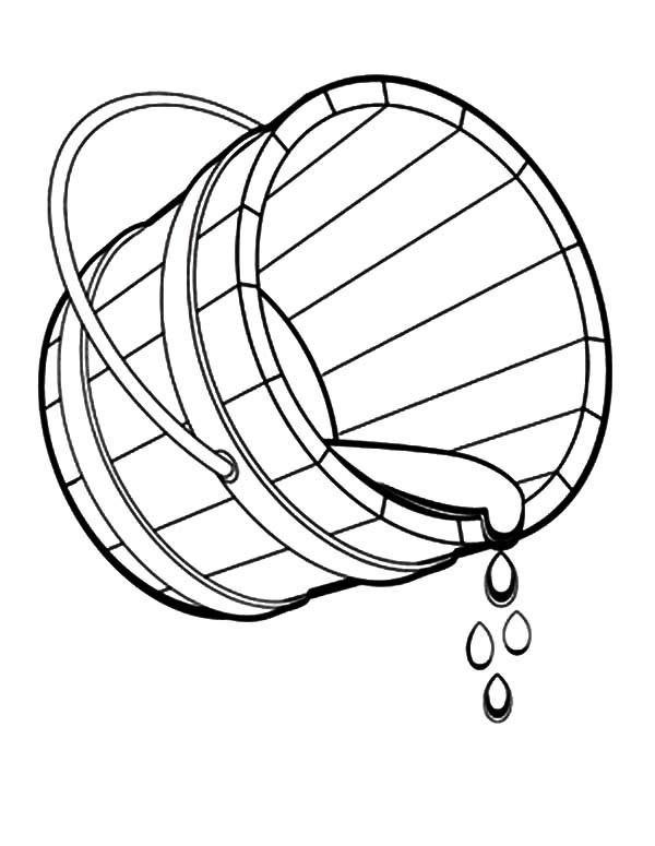 600x775 Bucket Of Water Coloring Pages